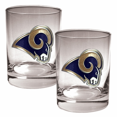 Los Angeles Rams Double Rocks Set