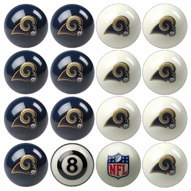 Los Angeles Rams Home and Away Complete Billiard Ball Set