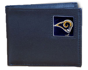 Los Angeles Rams Leather Bifold Wallet (F)