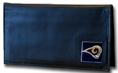 Los Angeles Rams Leather Checkbook Cover (F)