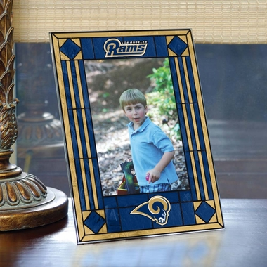 Los Angeles Rams Portrait Art Glass Picture Frame