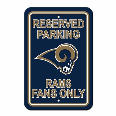 Los Angeles Rams Plastic Reserved Parking Sign (P)