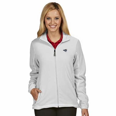 Los Angeles Rams Womens Ice Polar Fleece Jacket (Color: White)