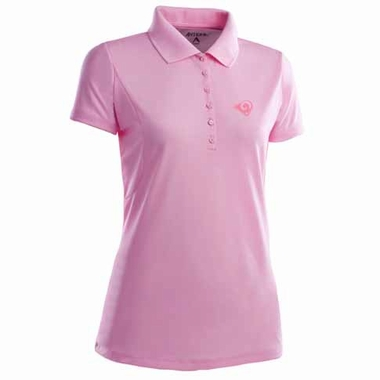 Los Angeles Rams Womens Pique Xtra Lite Polo Shirt (Color: Pink)