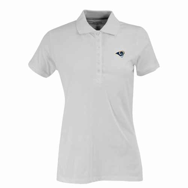 Los Angeles Rams Womens Spark Polo (Color: White)