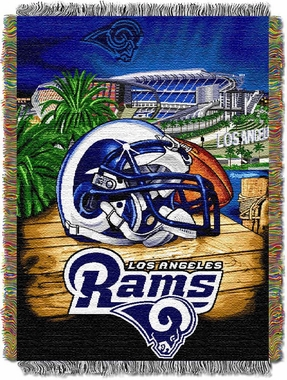 Los Angeles Rams Woven Tapestry Throw Blanket