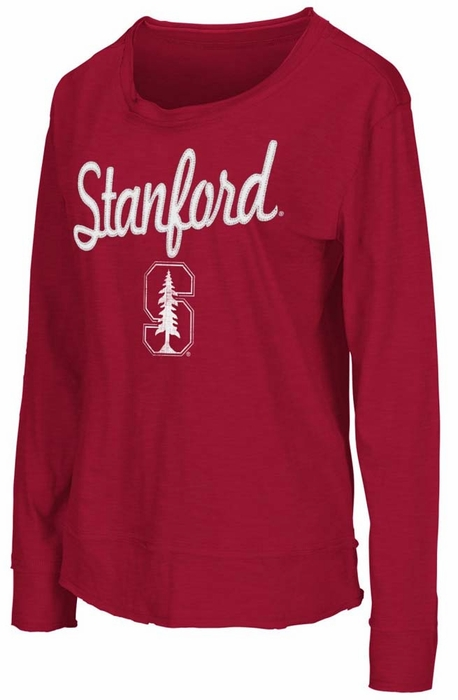 Stanford cardinal womens rope tow long sleeve crew shirt for Stanford long sleeve t shirt