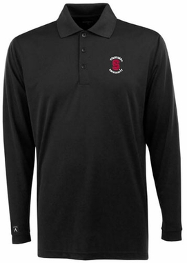 Stanford Mens Long Sleeve Polo Shirt (Color: Black)