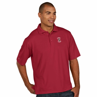 Stanford Mens Pique Xtra Lite Polo Shirt (Color: Maroon)
