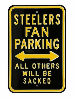 Steelers/Sacked Parking Sign