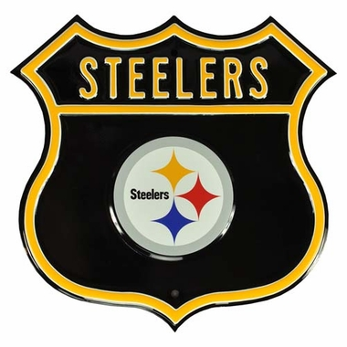 Steelers W Steelers Logo Street Sign