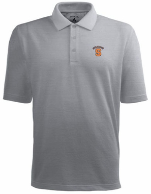 Syracuse Mens Pique Xtra Lite Polo Shirt (Color: Silver)