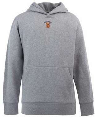 Syracuse YOUTH Boys Signature Hooded Sweatshirt (Color: Gray)