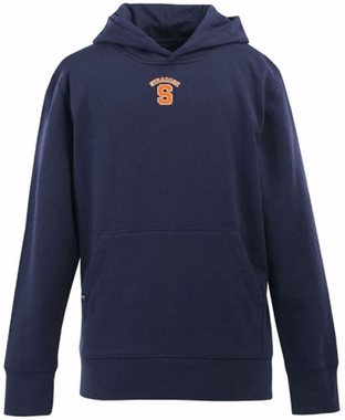 Syracuse YOUTH Boys Signature Hooded Sweatshirt (Color: Navy)