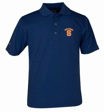 Syracuse YOUTH Unisex Pique Polo Shirt (Color: Navy)