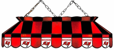 Tampa Bay Buccaneers 40 Inch Rectangular Stained Glass Billiard Light