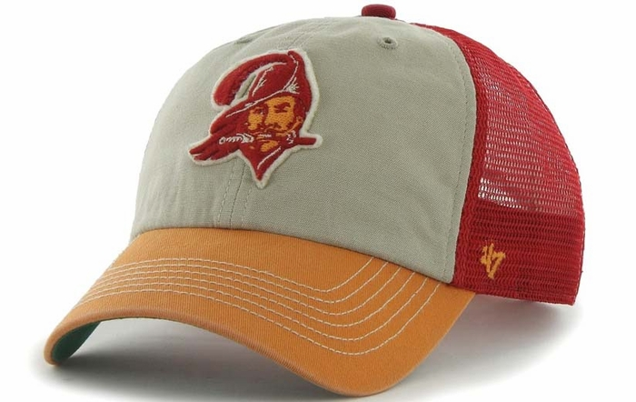 Tampa Bay Buccaneers 49ers 47 Brand McNally Throwback Mesh Back Hat 90ce557e55a