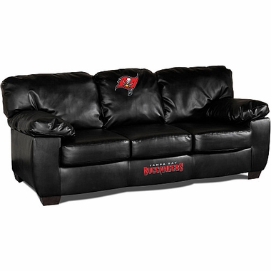 Tampa Bay Buccaneers Leather Classic Sofa