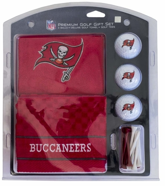 Tampa Bay Buccaneers Embroidered Towel Golf Gift Set