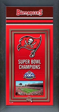 Tampa Bay Buccaneers Framed Championship Banner