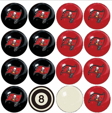 Tampa Bay Buccaneers Home and Away Complete Billiard Ball Set