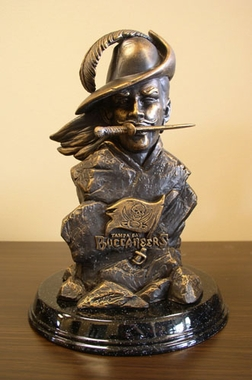 Tampa Bay Buccaneers Tim Wolfe Statue
