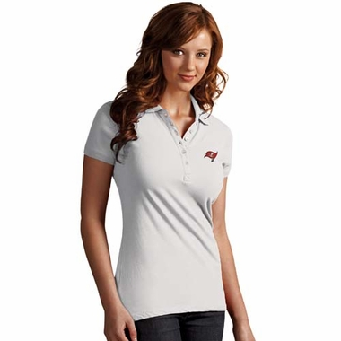 Tampa Bay Buccaneers Womens Spark Polo (Color: White)