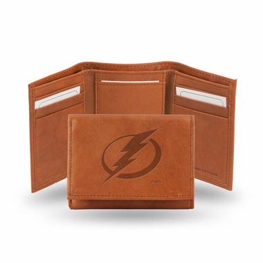 Tampa Bay Lightning Embossed Leather Trifold Wallet