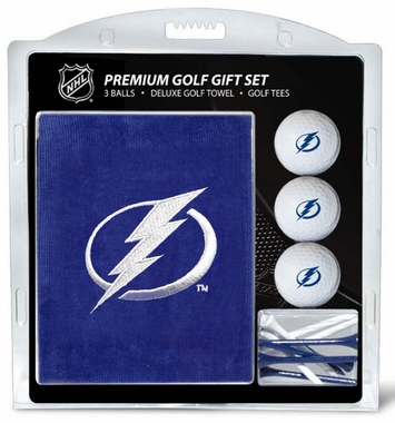 Tampa Bay Lightning Embroidered Towel Golf Gift Set