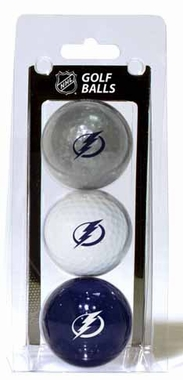 Tampa Bay Lightning Set of 3 Multicolor Golf Balls