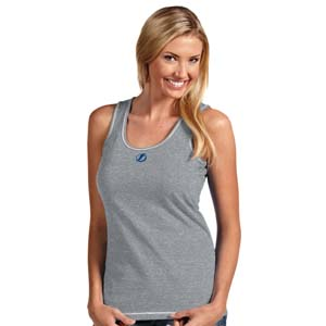 Tampa Bay Lightning Womens Sport Tank Top (Color: Gray) - X-Large