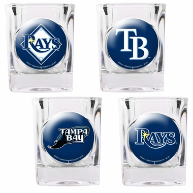 Tampa Bay Rays 4 Piece Assorted Shot Glass Set