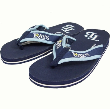 Tampa Bay Rays Contoured Flip Flop Sandals