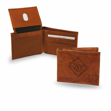Tampa Bay Rays Embossed Leather Bifold Wallet