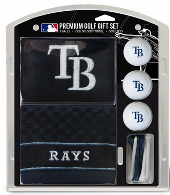 Tampa Bay Rays Embroidered Towel Golf Gift Set