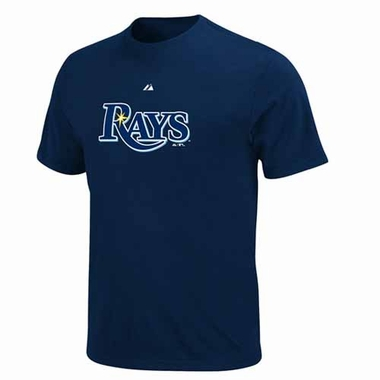 Tampa Bay Rays Official Wordmark T-Shirt - Navy