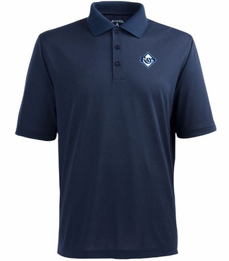 Tampa Bay Rays Mens Pique Xtra Lite Polo Shirt (Color: Navy)