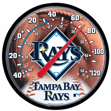 Tampa Bay Rays Round Wall Thermometer
