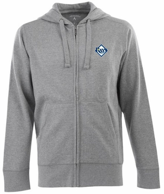 Tampa Bay Rays Mens Signature Full Zip Hooded Sweatshirt (Color: Gray)