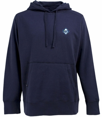 Tampa Bay Rays Mens Signature Hooded Sweatshirt (Color: Navy)
