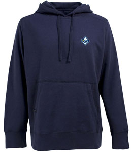 Tampa Bay Rays Mens Signature Hooded Sweatshirt (Color: Navy) - Large