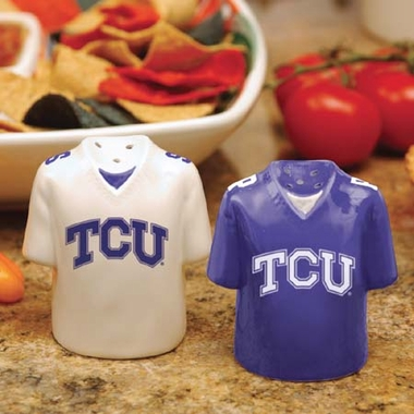 TCU Ceramic Jersey Salt and Pepper Shakers