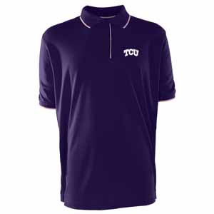 TCU Mens Elite Polo Shirt (Color: Purple) - Medium
