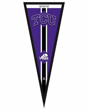 "TCU Horned Frogs Pennant Frame - 13""x33"" (No Glass)"