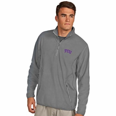 TCU Mens Ice Polar Fleece Pullover (Color: Gray)