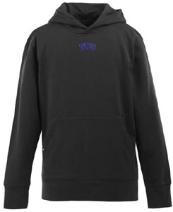 TCU YOUTH Boys Signature Hooded Sweatshirt (Color: Black) - X-Large