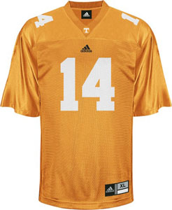 Tennessee #14 Adidas Replica Football Jersey (Orange) - Small