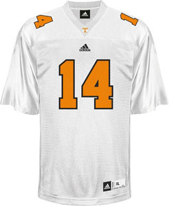 Tennessee #14 Adidas Replica Football Jersey (White) - Large