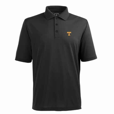 Tennessee Mens Pique Xtra Lite Polo Shirt (Color: Black)