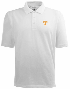 Tennessee Mens Pique Xtra Lite Polo Shirt (Color: White)